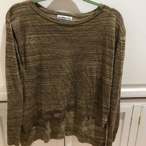 Zara knit gold/black sweater, small.  Good cond.